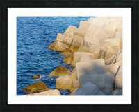Cubes on the sea Picture Frame print