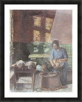 With the chickens by Anna Ancher Picture Frame print