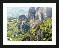 Monastery in Grece Picture Frame print