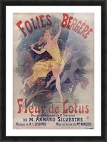 Folies Bergere Fleur de Lotus Poster Picture Frame print