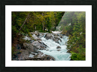Wild Water in the Mountains Picture Frame print