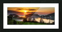 Coucher de soleil au Bic Picture Frame print