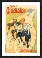 Cycles Gladiator poster in 1897 Picture Frame print