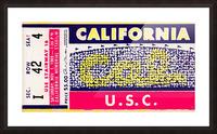 1969 Cal Bears vs. USC Trojans Picture Frame print