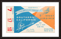 1959 USC vs. West Virginia Picture Frame print