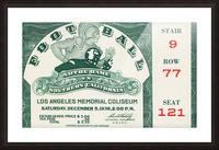 1936 Notre Dame vs. USC Football Ticket Art Picture Frame print