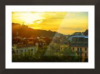 Summer Sunset over Lucerne Switzerland Picture Frame print