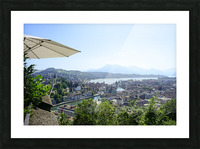 Stunning View to Lake Lucerne in the Central Swiss Alps Picture Frame print