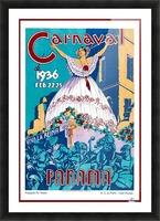Carnaval de 1936 Panama Vintage Travel Poster Picture Frame print