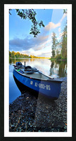 On the water Picture Frame print
