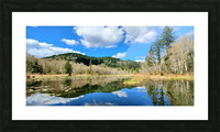 Lay of the land Picture Frame print
