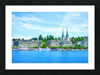 Waterfront   Lucerne Switzerland 1 of 3 Picture Frame print