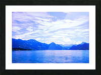 Beautiful Day The Alps and Lake Lucerne 1 of 2 Picture Frame print