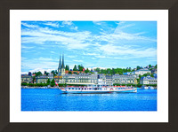 Old Town along the Coast in Lucerne Switzerland Picture Frame print