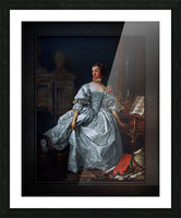 La Marquise de Pompadour by Francois Boucher Classical Fine Art Xzendor7 Old Masters Reproductions Picture Frame print