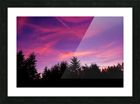 Summer Sunset Pacific Northwest United States Picture Frame print