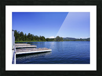 Alder Lake and Mount Rainier Pacific Northwest United States Picture Frame print