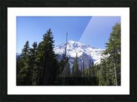 Mount Rainier Pacific Northwest Washington State Picture Frame print