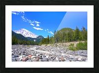 Spring Runoff Mount Rainier Pacific Northwest Washington State Picture Frame print