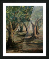 Oak trees Picture Frame print