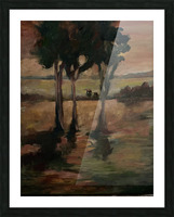 Three trees Picture Frame print