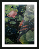 Koi with water lily  Picture Frame print