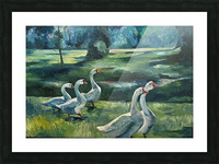 Geese at St. Francisville Picture Frame print