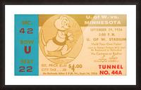 1956 Washington Huskies vs. Minnesota Golden Gophers Picture Frame print