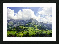 Beautiful Day in the Swiss Alps 2 of 2 Picture Frame print