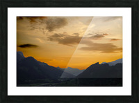 Sunset in the Saanen Valley in Switzerland Picture Frame print