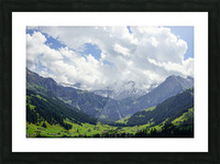 Beautiful Day in the Valley and Mountains of Adelboden Switzerland Picture Frame print