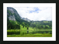 Quiet Morning on the Lake in the Swiss Highlands Picture Frame print