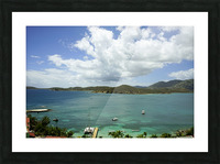 Saint Thomas in the Caribbean Islands Picture Frame print