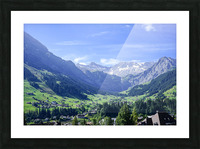 Blue Skies over the Alps in Adelboden Switzerland Picture Frame print