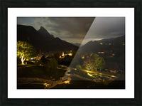 Night Arrives in the Saanen Valley in Switzerland Picture Frame print