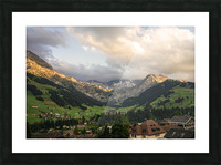 Golden Rays of the Sun Across the Mountains at Sunset in Switzerland 2 of 2 Picture Frame print