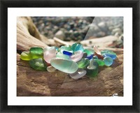 Sea Glass Colors Picture Frame print