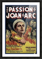 The Passion of Joan of Arc 1928 Ad Picture Frame print