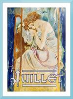 Juillet July Picture Frame print