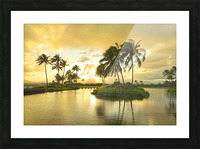 Shadows and Light as the Sun Sets in Kauai 2 of 2 Picture Frame print