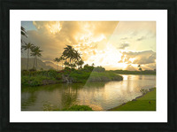 Shadows and Light as the Sun Sets in Kauai 1 of 2 Picture Frame print