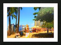 Waikiki Snapshot in Time 2 of 4 Picture Frame print