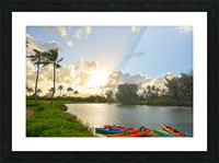 Sunset by the Lakeshore in Kauai Picture Frame print