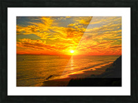 Sunset over Catalina Island in Newport Beach California Picture Frame print