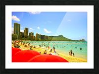 Waikiki Snapshot in Time 1 of 4 Picture Frame print