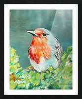 Bird Painting Robin Picture Frame print