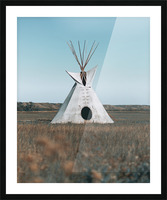 Cree Tipi Picture Frame print