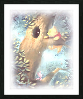 Curious Bear  Picture Frame print