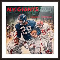 1962 Robert Riger New York Giants Art Picture Frame print