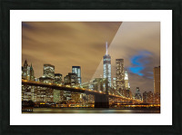 Brooklyn Bridge Picture Frame print